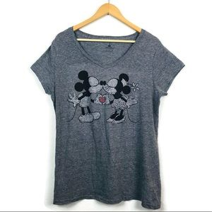 Disney Parks Mickey & Minnie Kissing Rhinestone